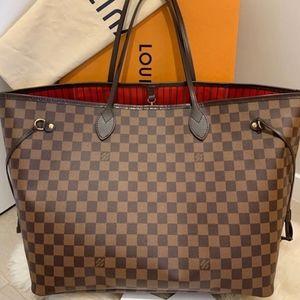Authentic Louis Vuitton Neverfull Damier GM Bag